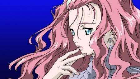 simoun, girl, pink hair