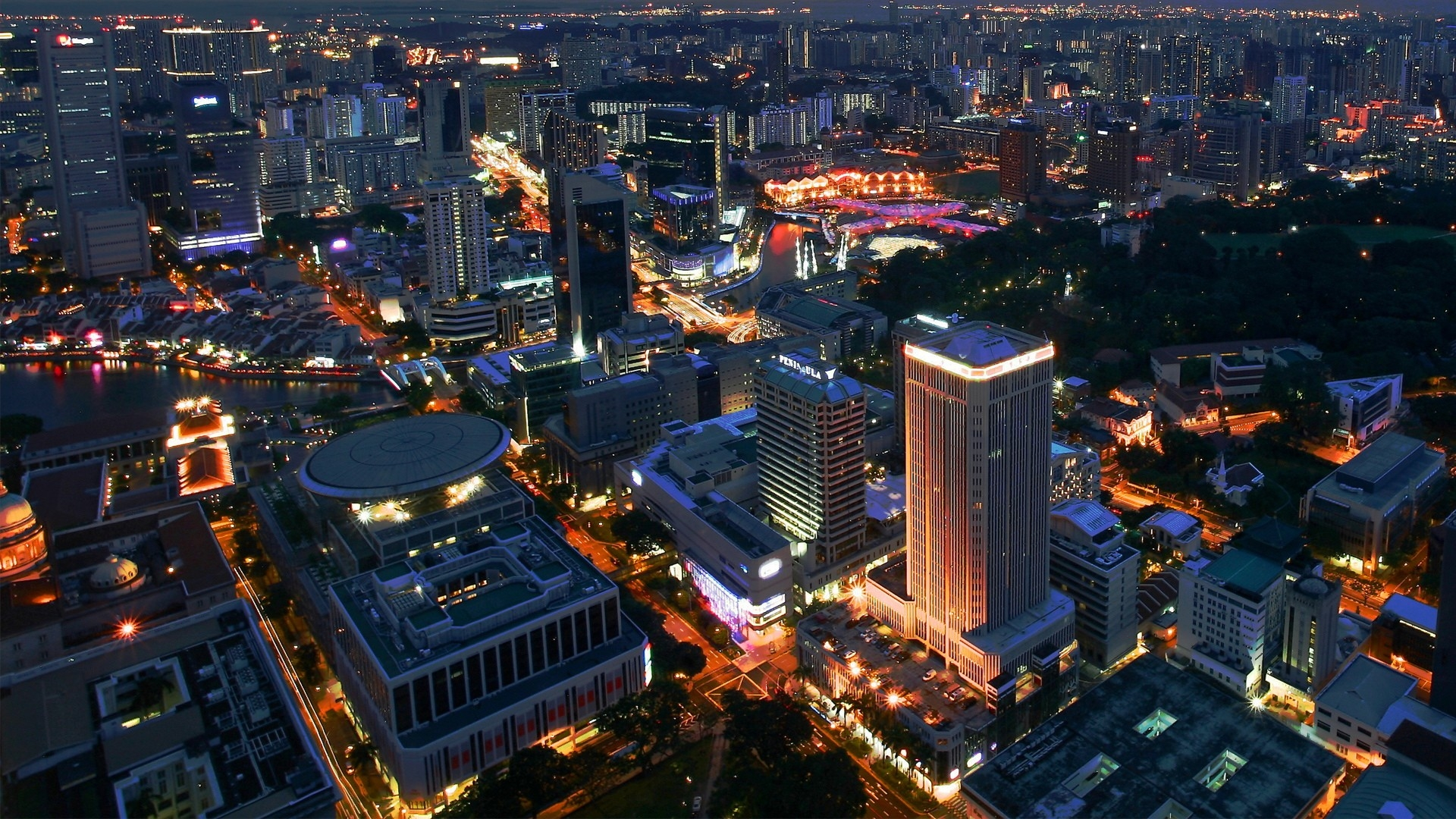 Earnings Disclaimer >> Download Wallpaper 1920x1080 singapore, building, view ...