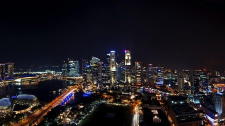 singapore, night, city