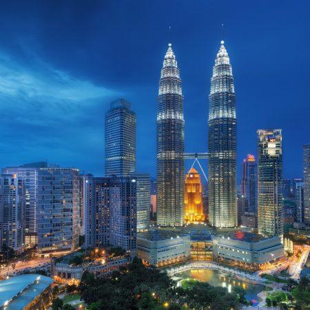 singapore, night, petronas twin towers