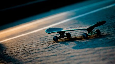 skateboard, miniature, surface