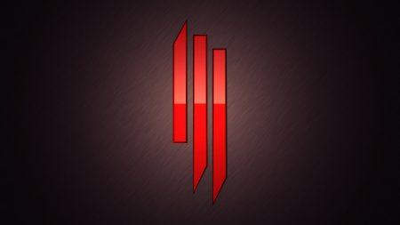 skrillex, symbol, red