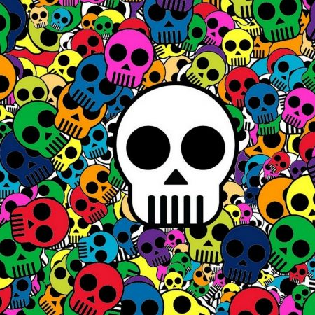 skull, background, bright