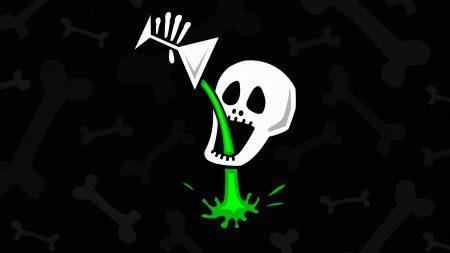 skull, bone, drink