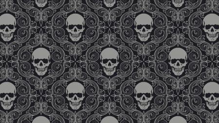 skull, drawing, gray