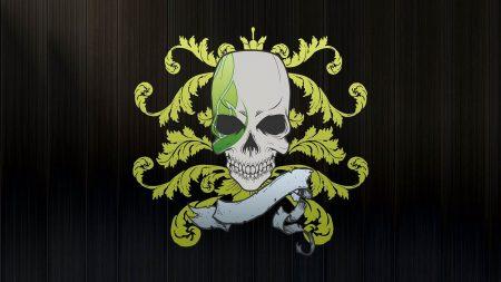 skull, symbols, graphics
