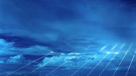 sky, beams, light