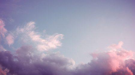 sky, clouds, pink