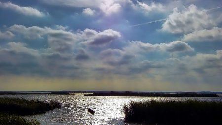 sky, clouds, water