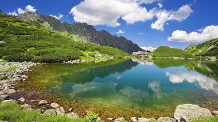 sky, nature, lake