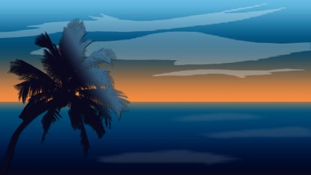 sky, sea, horizon