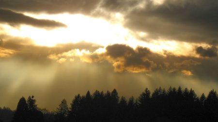 sky, sunlight, evening