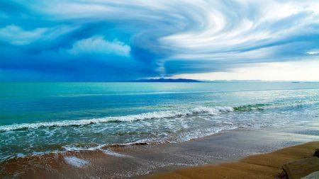 sky, typhoon, clouds