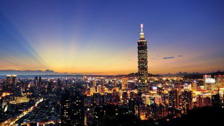 skyscrapers, city, night