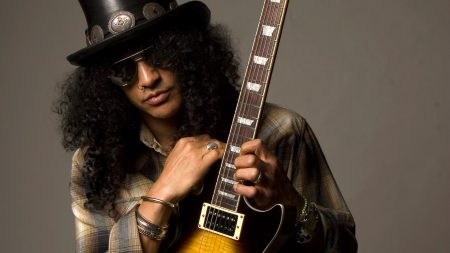 slash, guitar, hair