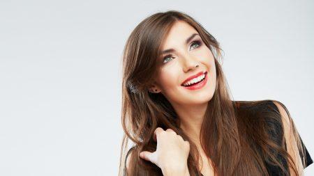 smile, girl, makeup