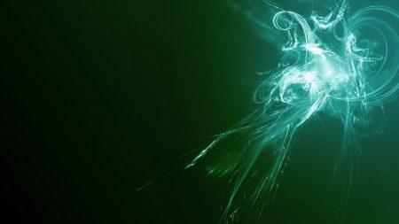 smoke, green, light