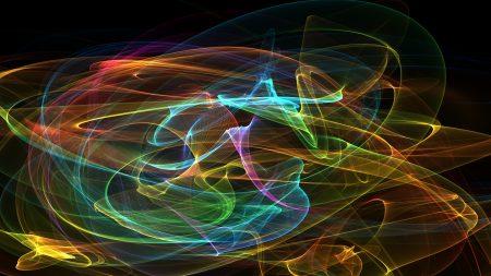 smoke, grid, multicolored