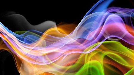 smoke, lines, colorful