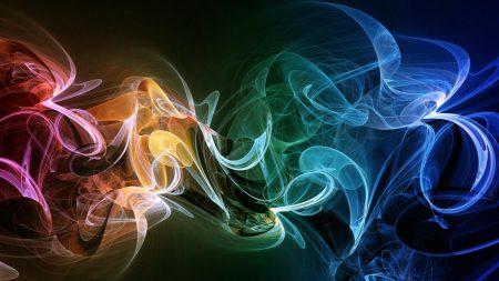 smoke, multicolored, bright
