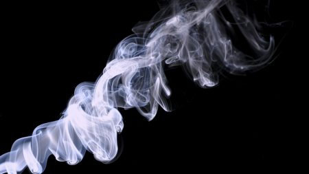 smoke, spiral, light