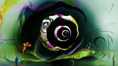 snail, drawing, multicolored