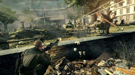 sniper elite v2tank, soldiers, gun