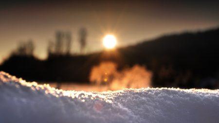 snow, light, sunlight