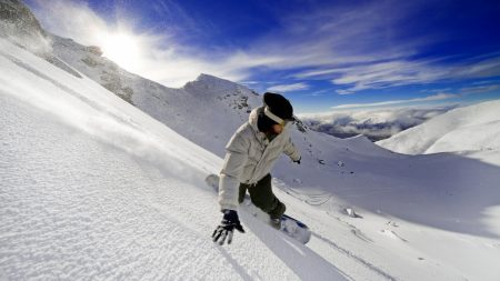 snowboard, descent, vertical