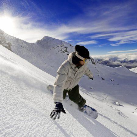 snowboard, descent, vertical