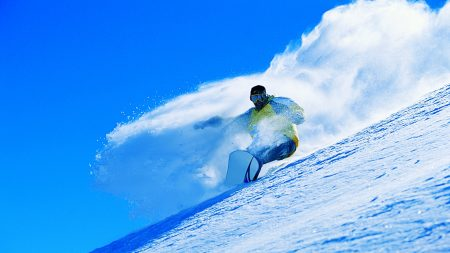 snowboarder, slope, snow