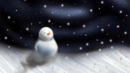 snowman, blizzard, snow