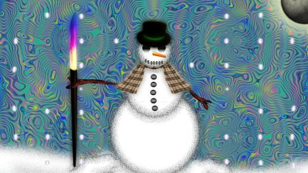 snowman, fire, patterns