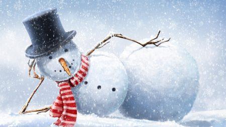 snowman, lies, snow
