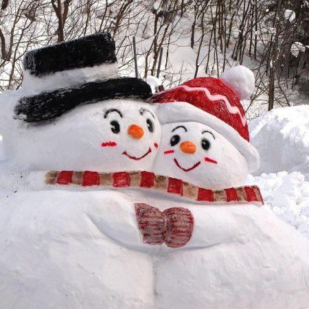 snowmen, snow, winter