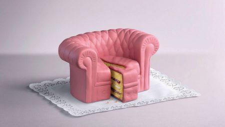 sofa, pie, piece