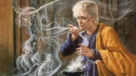 sorcerer, magician, ghost