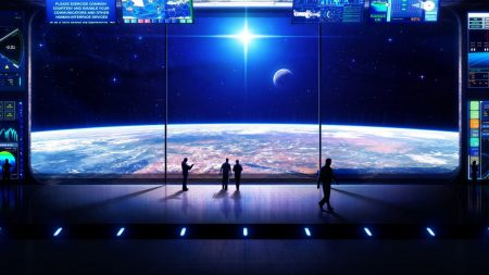 space, moon, people