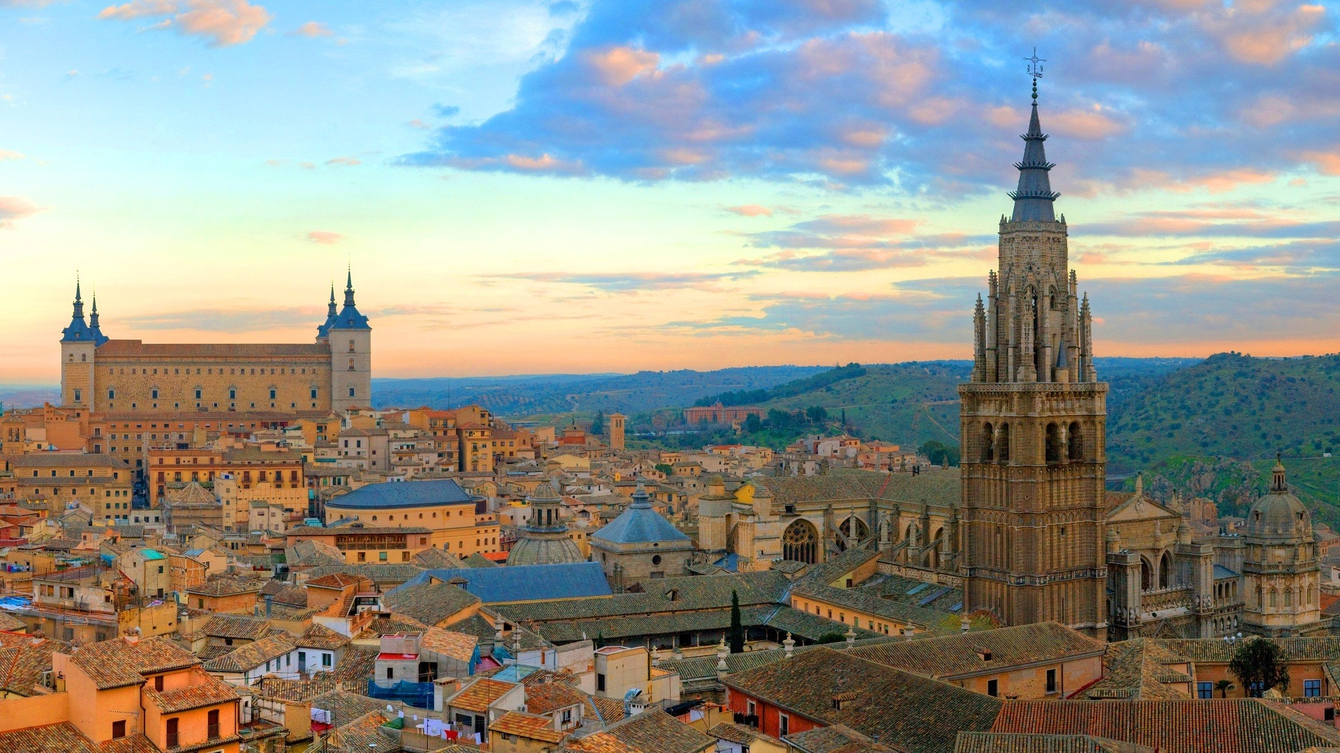 Earnings Disclaimer >> Download Wallpaper 1920x1080 spain, panorama, toledo Full HD 1080p HD Background