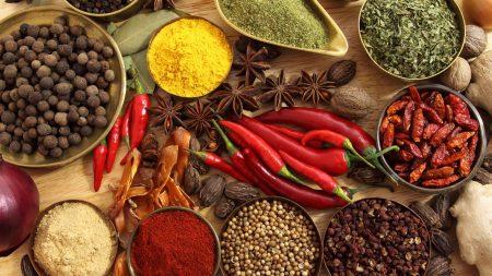 spices, seasonings, red pepper