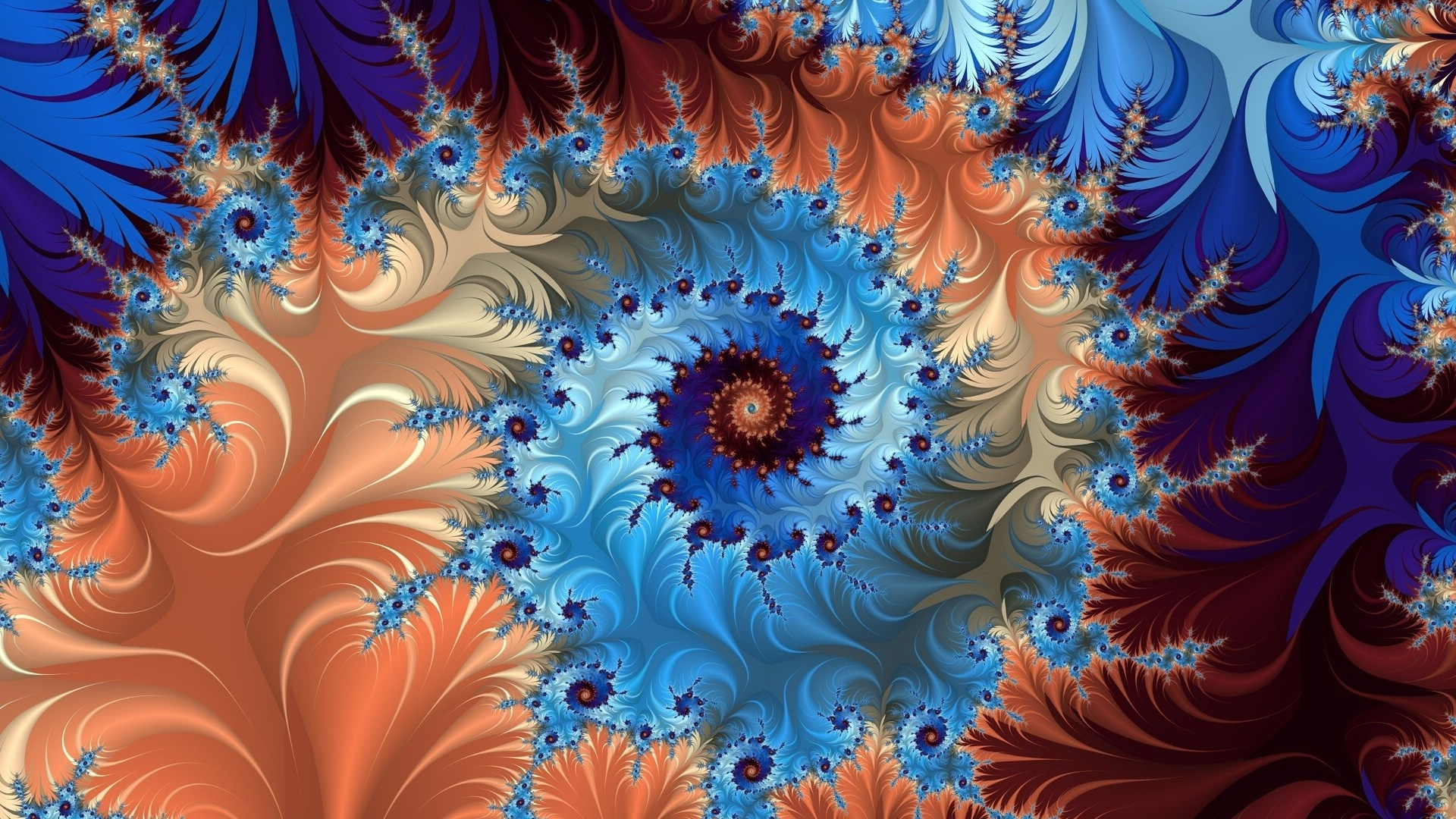 spiral, rotation, multicolored