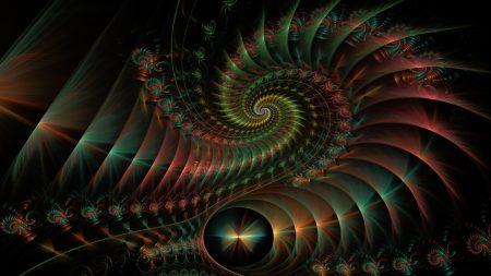 spiral, rotation, shape