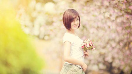 spring, girl, asian