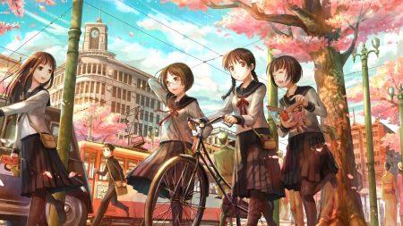 spring, road, city
