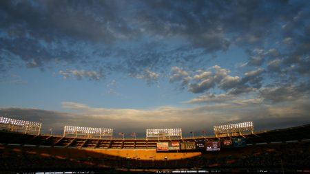 stadium, city, sky