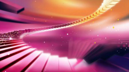 staircase, colored, brilliance