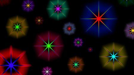 star, background, circles