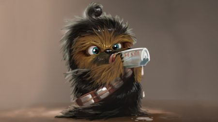 star wars, chewbacca, drink