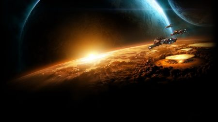 starcraft, planet, sun