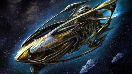 starcraft, spaceship, space